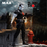 PL2018 119 1/6 Scale Collectible Full Set Bloodshot Action Figure Combined Gun for Fans Collection Gifts