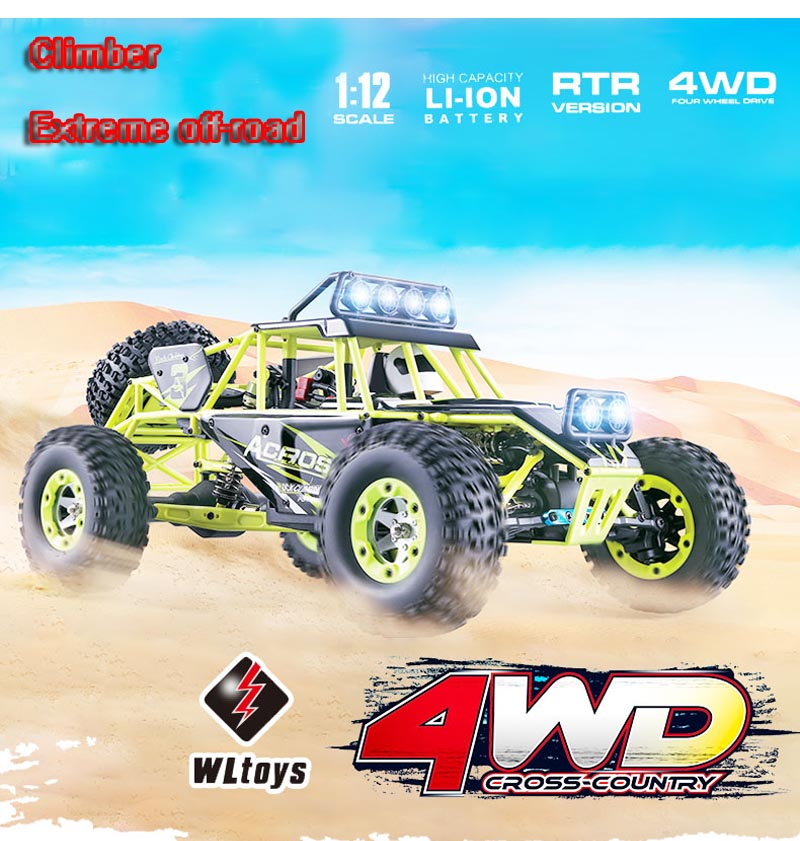 Original Wltoys 12428 RC Car 1/12 Scale 2.4G Electric 4WD Remote Control Car 50KM/H High speed RC Climbing Car wltoys 12428 12423 1 12 rc car spare parts 12428 0091 12428 0133 front rear diff gear differential gear complete
