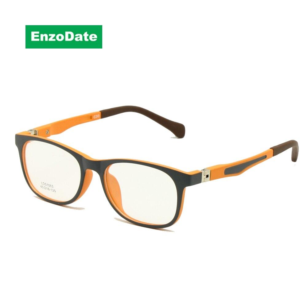 Kids Glasses TR90 Size 45 Safe Bendable with Spring Hinge Flexible Optical Frame Boys Girls Children Eyeglasses Plano Lenses