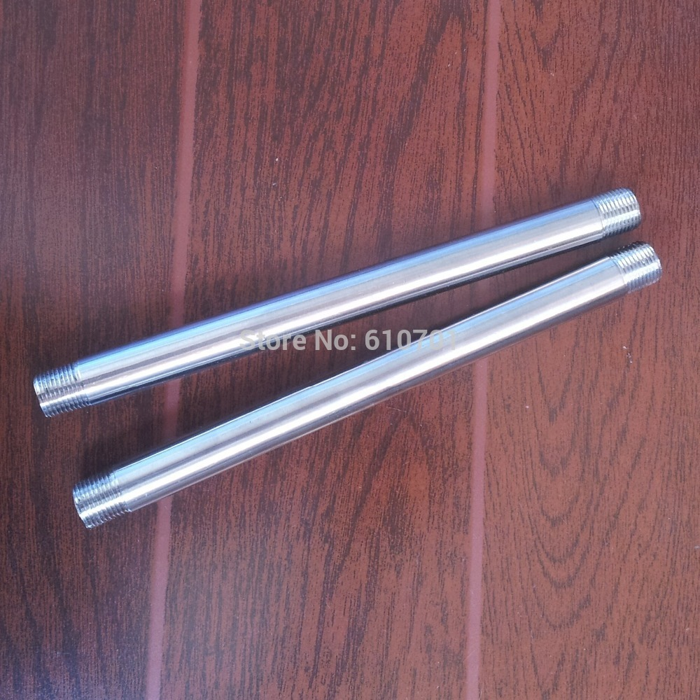 3/8 Male x 3/8Male Threaded Pipe Fitting 200MM Stainless Steel SS304 BSP NEW 1pc stainless steel ss304 male x male threaded pipe fitting 200mm bsp 1 4 1 2 3 4 1