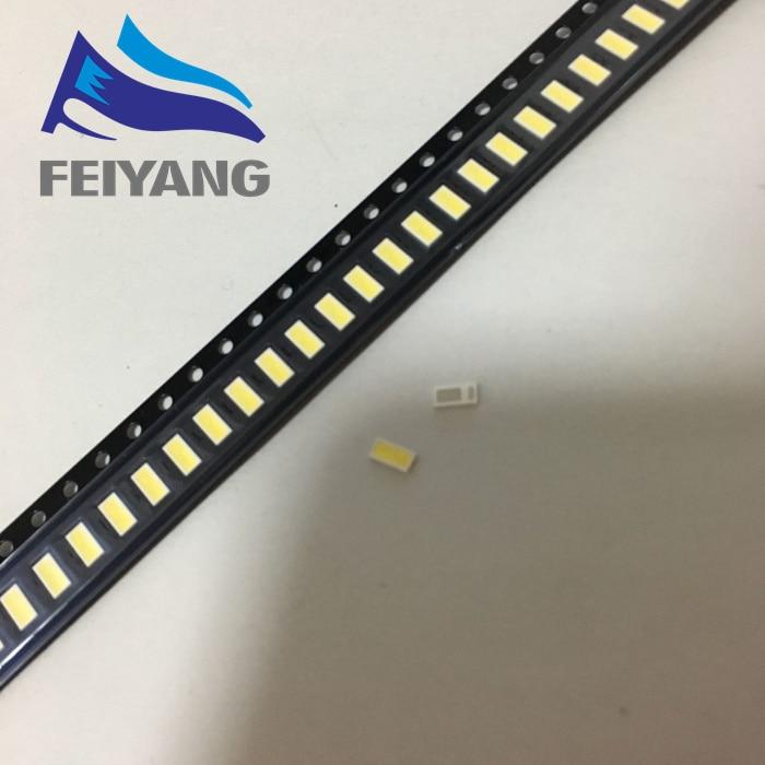 50PCS/Lot <font><b>4020</b></font> SMD <font><b>LED</b></font> Beads Cold white 1W 6V 150mA For TV/LCD Backlight
