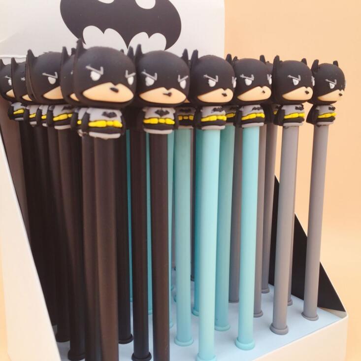 3 Pcs/lot Novelty Super Hero Batman Gel Pen Ink Pen Promotional Gift Stationery School & Office Supply