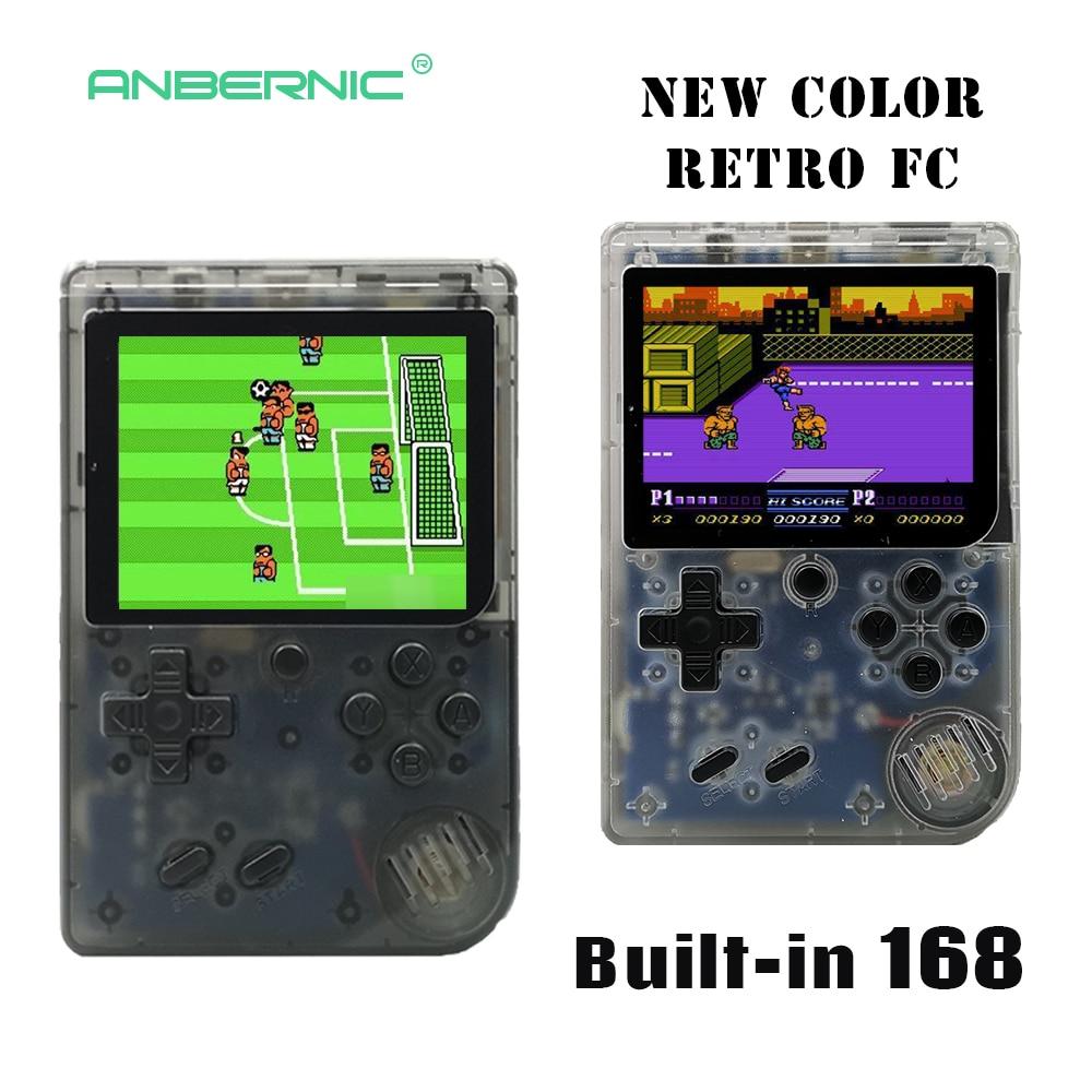 Children Retro Mini Portable Handheld Game Console Players 3.0 Inch Black 8 Bit Classic Video Handheld Game Console RETRO-FC  07 5