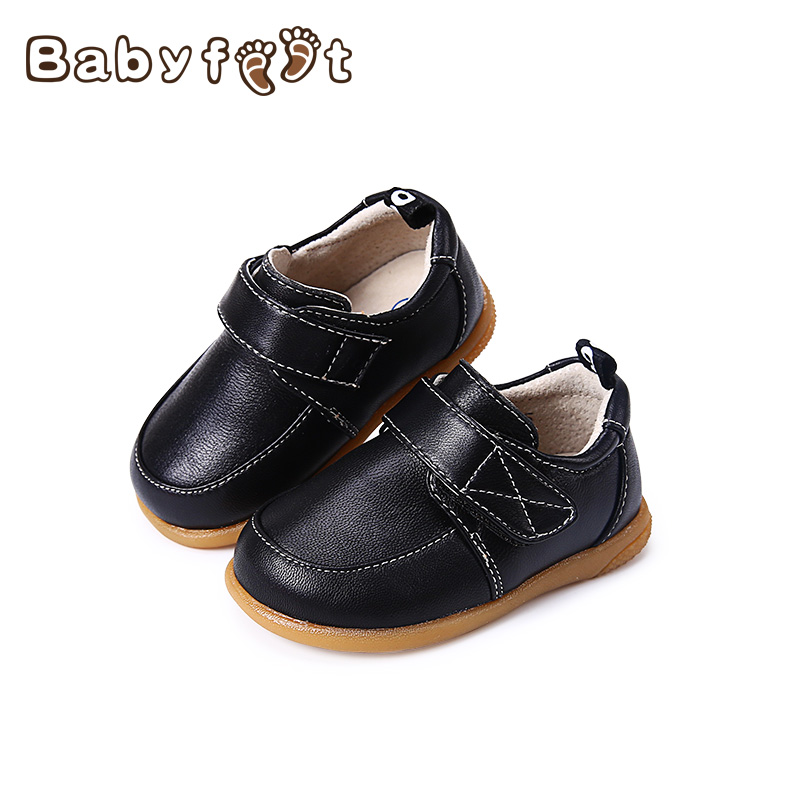 1 Pair First Walkers Baby Boys Shoe Toddler Shoes New Fashion Soft Bottom Comfortable Nice Genuine Leather Non-Slip Black Spring baby shoes first walkers baby soft bottom anti slip shoes for newborn fashion cute soft baby shoes leather winter 60a1057