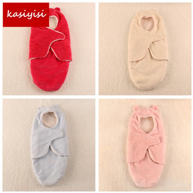 O envio gratuito de cobertores do bebê Recém-nascido 100% algodão/impressão Coral do velo cobertores de cores dos doces do bebê para 0-6 meses aTRQ1167