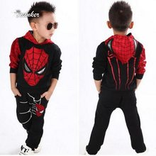 Tonlinker Spiderman Baby Boys Clothing Sets Suit For Boys Clothes Spring Spider Man Costume Cosplay Halloween carnival Birthday(China)