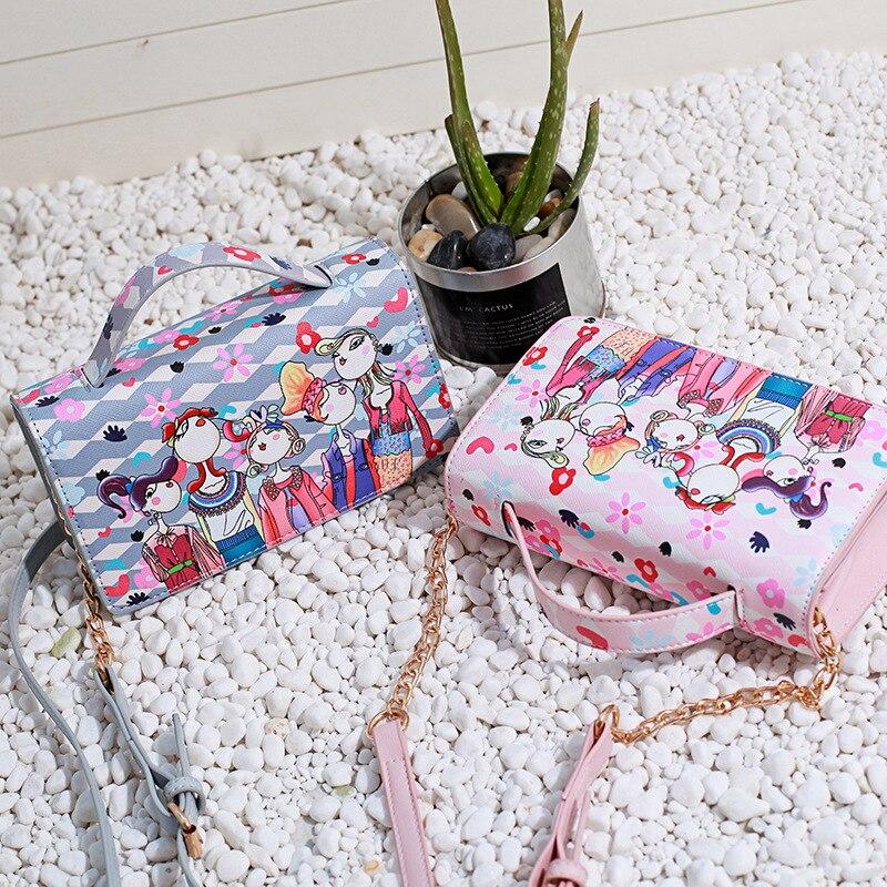 The new summer 2017 fashion handbag Crossbody Bag wholesale printing ladies one generation