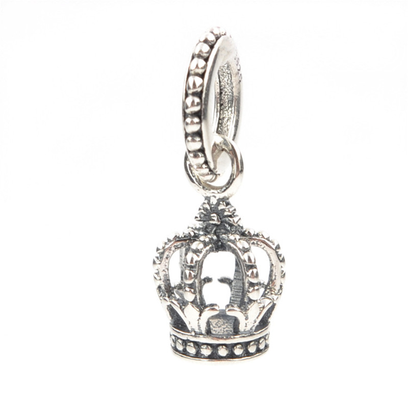 Fit Pandora Charm Bracelet Original 925 Silver Charm Bead Dangle Charm With Clear Zircon Jewelry Crown Charme da coroa Berloque
