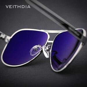 Image 3 - OCCHIALI DA SOLE VEITHDIA Con Il Caso Originale Occhiali Da Sole Polarizzati Uomini Del Progettista di Marca Occhiali Da Sole UV 400 Lenti gafas oculos de sol masculino 3152