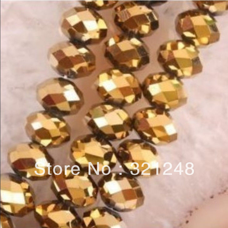 Free shipping 1000pcs golden glass <font><b>3x4mm</b></font> <font><b>crystal</b></font> faceted rondelle abacus loose beads spacers accessories for diy jewelry MY2225 image