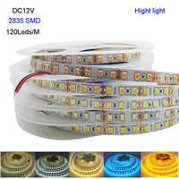 Neue Hight licht 5 M DC12V 2835 SMD 120 Leds/m IP20 Flexible LED Streifen licht weiß/warm weiß/Weiß/blau/Eis blau/goldene gelb