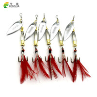 isca Atificial 2016 Hot 5PCS/lot Spinner bait Fishing Lure 8cm 8.6g Metal Spoon Lures pesca hard bait bass fishing tackle