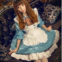 5 colors 3 piece set lolita dress 2017 maid loaded cafe waiter clothes work clothes Japanese anime cosplay maid outfit w367