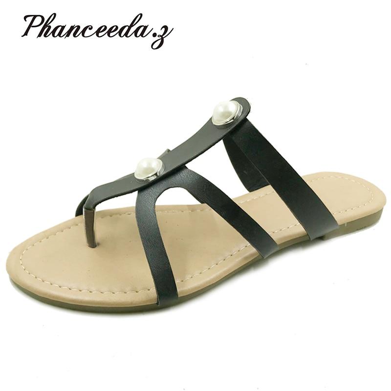 Nuevo 2018 Zapatos mujer Sandalias estilo verano sólido Casual Zapatillas moda Flip Flops alta calidad mujer pisos envío gratis