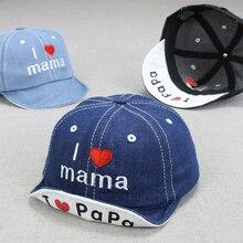 DreamShining/Модная Джинсовая детская шапка с надписью детские летние бейсболки для мальчиков солнечные шляпы девушки козырек Детские шапки Аксессуары для от 0 до 3 лет
