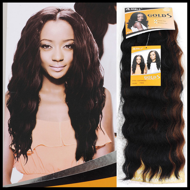 1pcfree Shipping Noble Gold Hair Egyptian 5pcs Deep Wave Synthetic