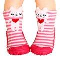 Bebê Menina Menino Recém Nascido Enfant Sapatos SocksToddler Meias Crianças Fundo Macio Não-Derrapante Solas De Borracha Botas Infantis WS9321