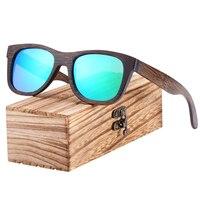 Gafas de sol de madera de bambú marrón UV400 3