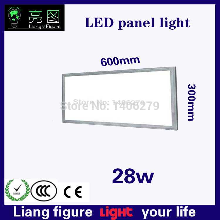 Hot selling LED AC 28W 300*600mm flat Panel Light LED kitchen light ceiling lamp Luz del panel