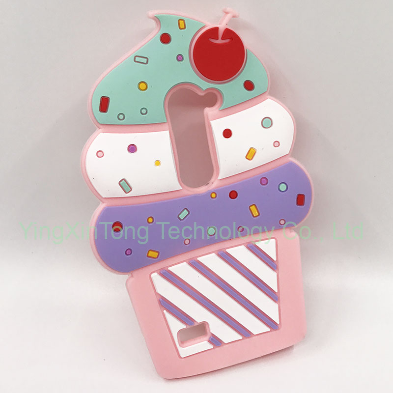 3D Luxury Cute Silicone Cartoon Cupcakes Ice Cream Phone Back Cover <font><b>Fundas</b></font> For <font><b>LG</b></font> <font><b>LEON</b></font> <font><b>4G</b></font> <font><b>LTE</b></font> C40 H340N H320 C50 H324 Phone Case image