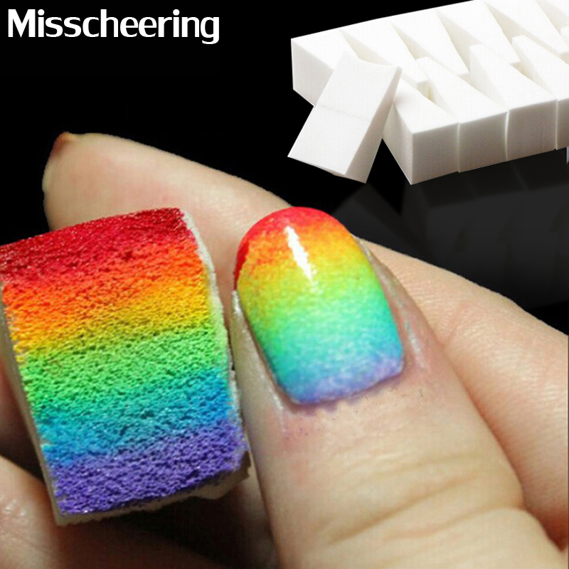 Nail Art Tools,Gradient Nails Soft Sponges For Color Fade Manicure,16pcs/lot DIY Creative Nail Accessories Supply, Free Shipping