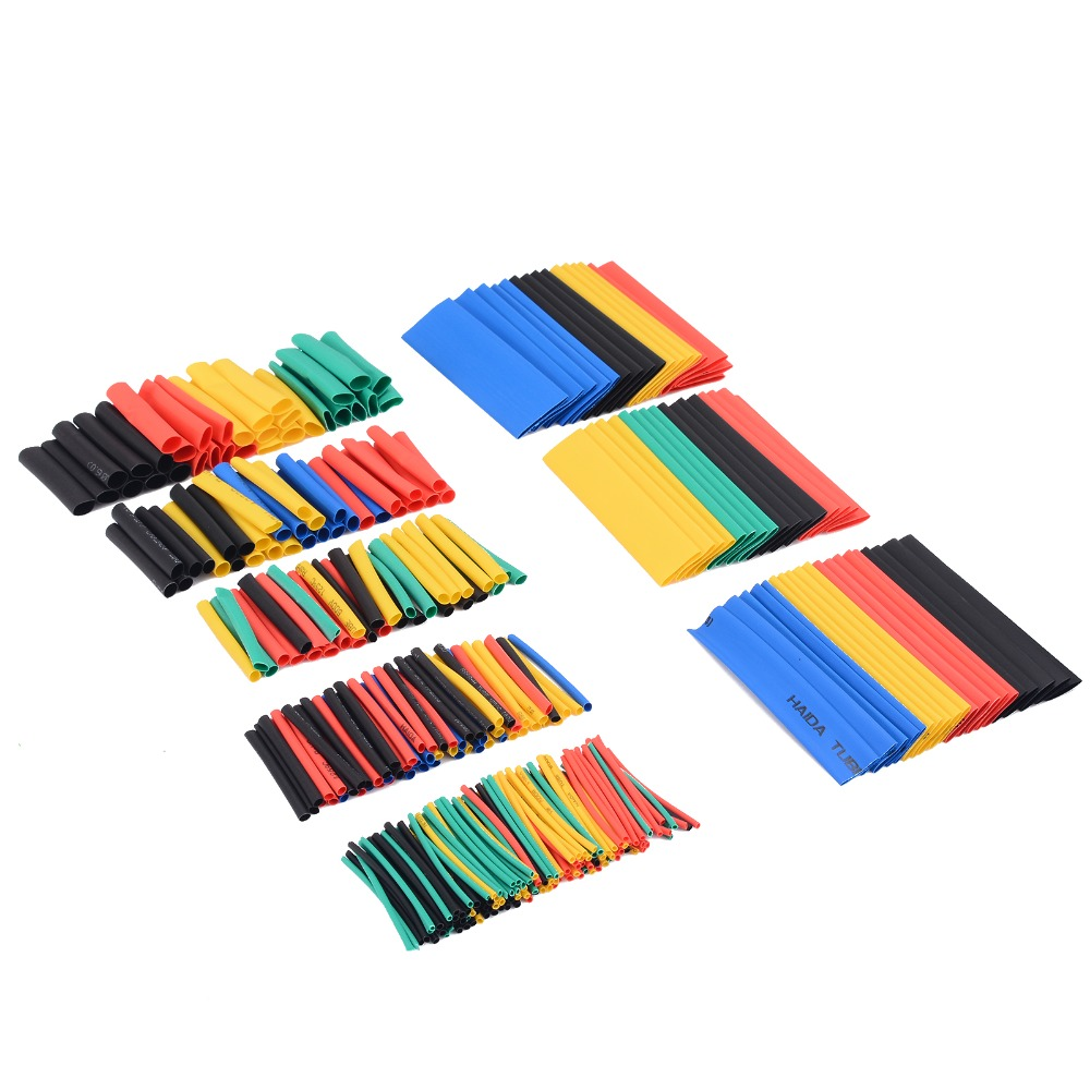 328PCS Adhesive Heat Shrink 2:1 Tube Car Electrical Sleeving Cable Wire Wrap Set