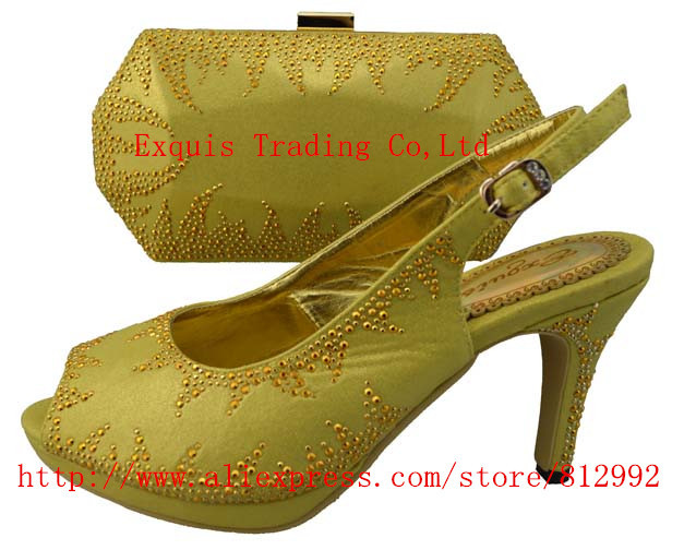 ФОТО Italy shoes with matching bags, lady shoes, good material, free shipping by DHL, 1308-28 GOLD size38-43