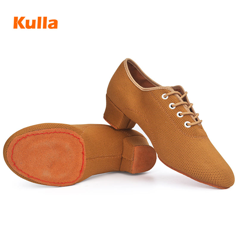 Women Teacher Dancing Shoes Ladies Summer Breathable Mesh Latin Ballroom Jazz Practice Dance Shoes Soft Sole National dance Shoe(China)