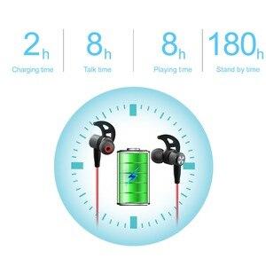 Image 3 - Draadloze Sport Bluetooth V4.2 Hoofdtelefoon Transpiratie Running Oefening Stereo Met Mic Oordopjes Oortelefoon Nekband Voor Iphone 11