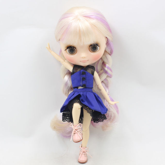 Free shipping Blue waltz skirt suitable for 1/8 Middle Blyth(20cm high Middle Blyth doll),F&D toys professional design
