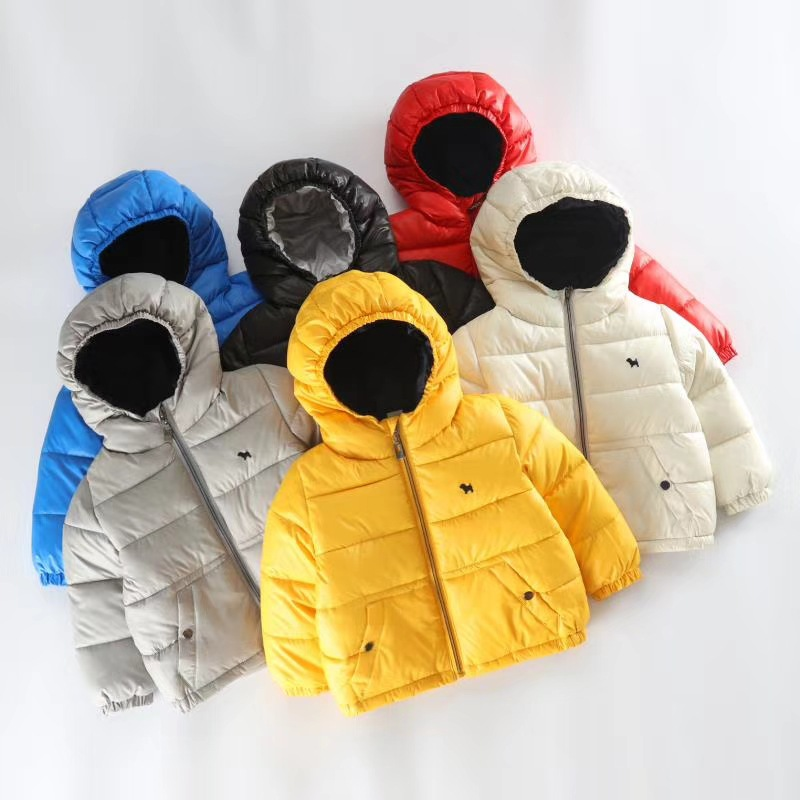 Children Outerwear Winter Jackets Coats 90% Cotton Hooded Infant Overcoat Casual Zipper Down Jacket For Girl Solid color wear robinson where to cruise cloth