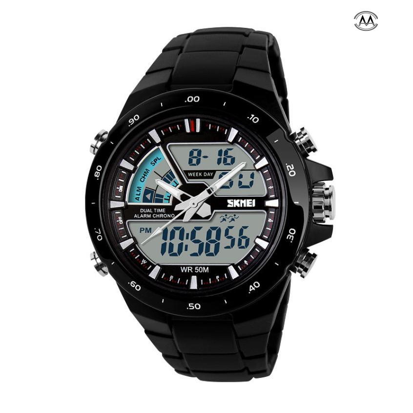 SKMEI Watch Mens Watches Top Brand Luxury Sport Quartz Wrist Men Analog Digital Waterproof Military Waterproof Relogio Clock mens watches top brand luxury men military watches led digital analog quartz watch sports wrist watch waterproof relogio clock