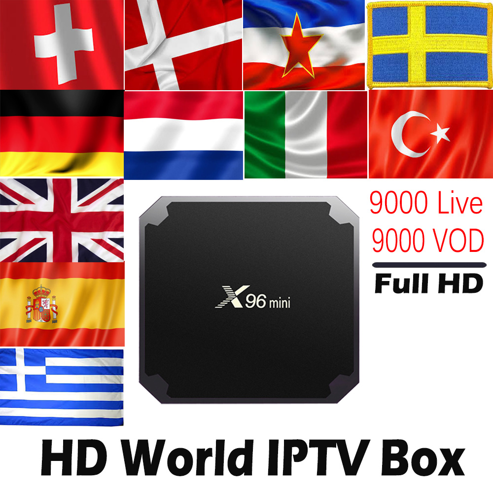 HD World IPTV X96mini Android 7 1 TV BOX with 9000 Live 9000 VOD Global Nordic