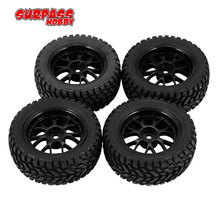 4Pcs 75mm Rubber Rally Climbing Car Off-road Wheel Rim and Tires Hex For HSP HPI 1:10 RC Racing Car Accessories Component 1 8 car parts and accessories off road ruber tire wheel rim 4pcs 17mm hex for hpi hsp rc buggy racing car tyres