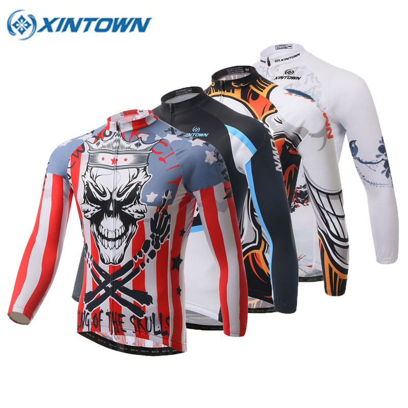 XINTOWN 2018 Cycling Jersey Winter Long Bike Bicycle Thermal Fleece Ropa Roupa De Ciclismo Invierno Hombre Mtb Clothing 17 Color цена