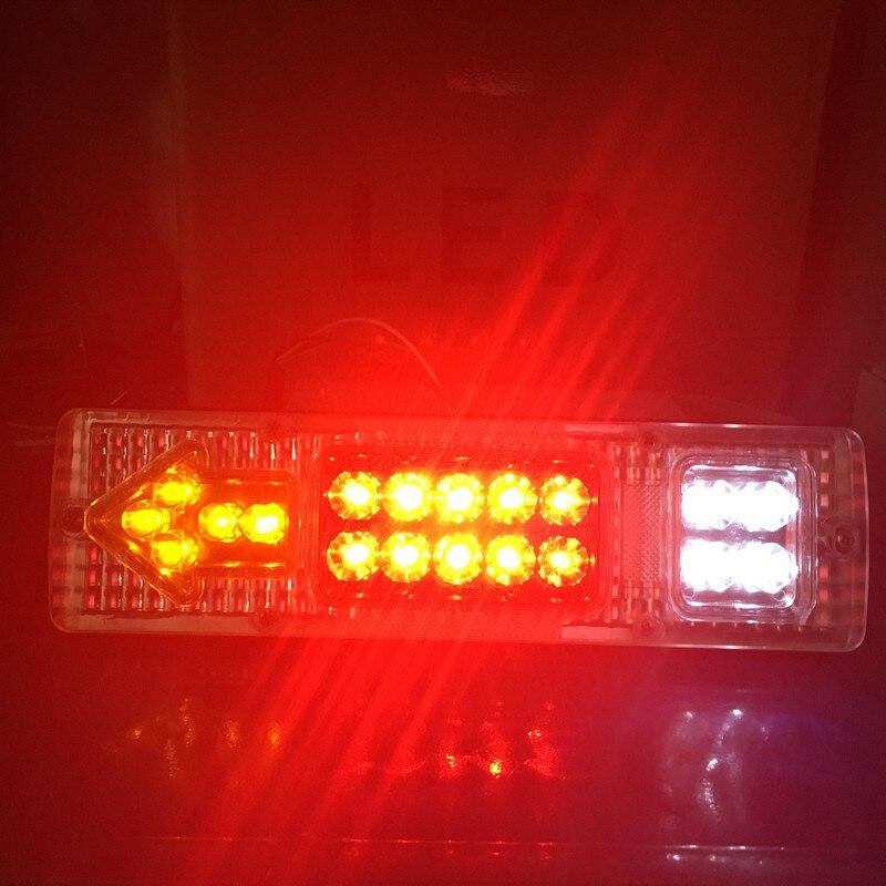 2PCS 12V 24V Caravan Led Trailer Tail Lights LED Rear Turn Signal Truck Trailer Lorry Stop Rear Tail Indicator Light Lamp