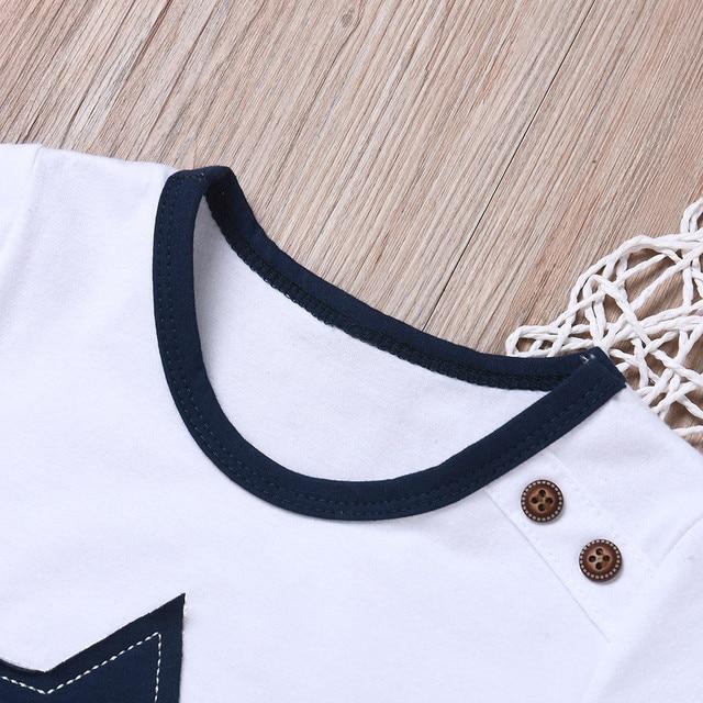Newborn baby boys clothing set five-star t-shirt and short 2pc set 3