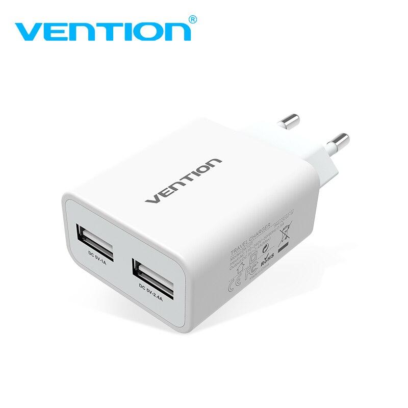 Venção Do Carregador Do Telefone Móvel 5 V 1A 2.4A Dual USB Carregador portátil de Viagem Carregador de Parede Plug Adapter DA UE Para samsung s8 Xiaomi