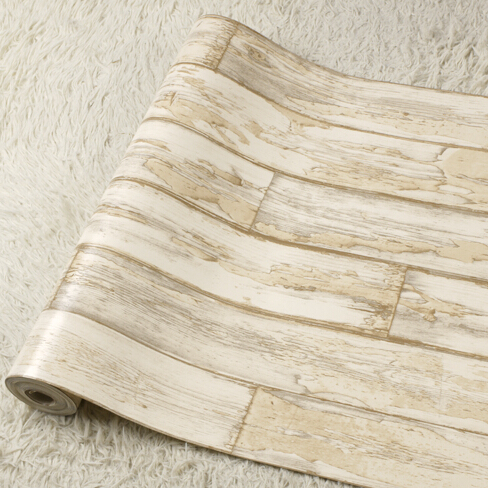 New 4 Color Retro Rustic Wood Background Wallpaper 3D Striped For Living Room Bedroom TV Wall Mural Paper In Wallpapers From Home