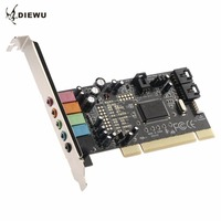 DIEWU CMI8738 PCI 5 1 Sound 5 Port Sound Card Cinema Stereo Surround Sound Card For