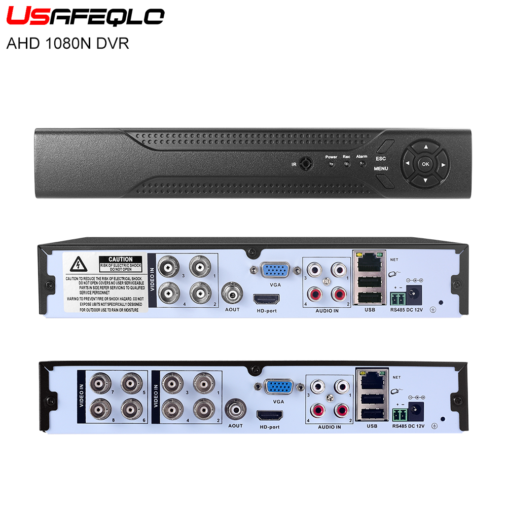USAFEQLO 4CH 8CH 16CH 1080N TVI CVI AHD NH 5 In1 Hybrid DVR 1080P NVR Video