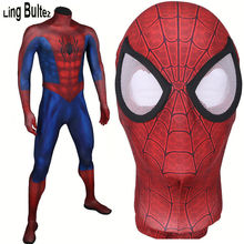 Ling Bultez High Quality Classic Ultimate Spiderman Costume 3D Print Muscle Shade Ultimate Spiderman Spandex Suit