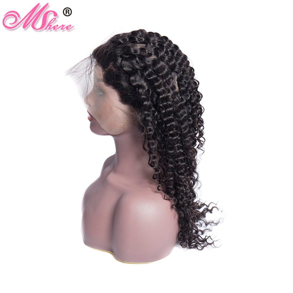 Mshere Peruvian Hair Pre Plucked Deep Wave 360 Lace Frontal Closure With Baby Hair Lace Front