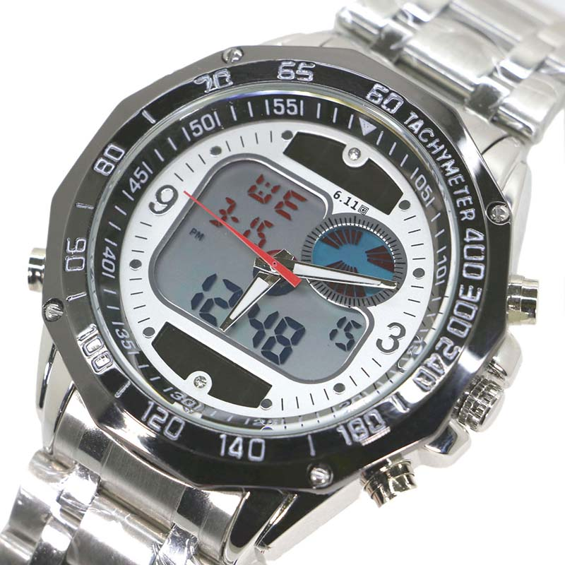 Newest Dual Display watch Solar LED Digital Quartz Wristwatches for Men Fashion Sports Military Dress Watches