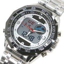 Date Double Affichage montre Solaire LED Numérique Quartz Montres pour Hommes Mode Sport Militaire Robe Montres Numérique analogique LCD