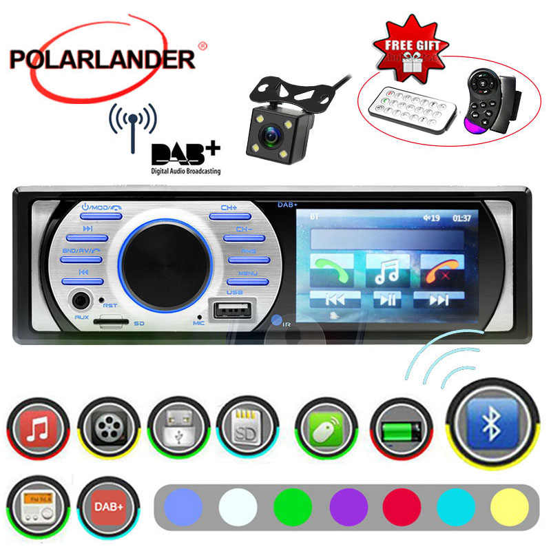 "1Din Car Radio 12V ISO Contact 3.0 "" HD  USB/TF/AUX in FM In-Dash Interface With Camera Auto Audio Stereo Bluetooth DAB+ MP5/WMA"