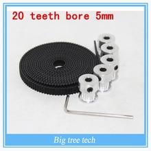 5 шт. 20 зубов Gt2 Ролик и 5 М Gt2-6мм GT2 Ремень Грм для 3D принтер с 10 х М3 Винты, Шестигранный Ключ