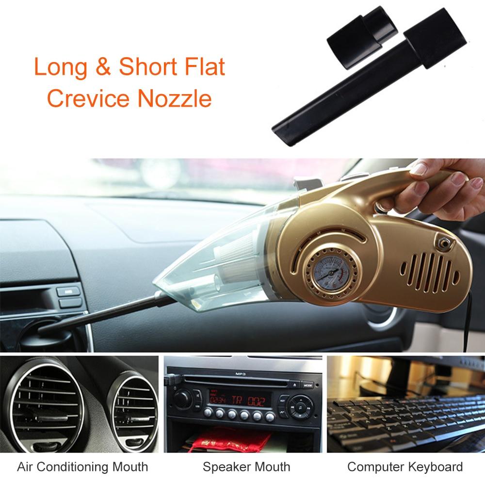 Powerful Car Wet/Dry Vacuum Cleaner 4 in 1 Tire Inflator & Tire Pressure Gauge & LED Light Handheld Vacuum Sweeper