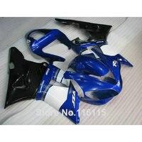 Plastic Fairing kit for YAMAHA YZF R1 2000 2001 blue black white fairings R1 00 01 full set full injection 1413