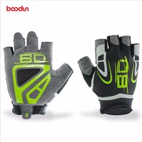 BOODUN Lycra Body Building Fitness Gloves Gym Weight Lifting Gloves Sport Training Workout Sweat Shockproof Skid Gloves